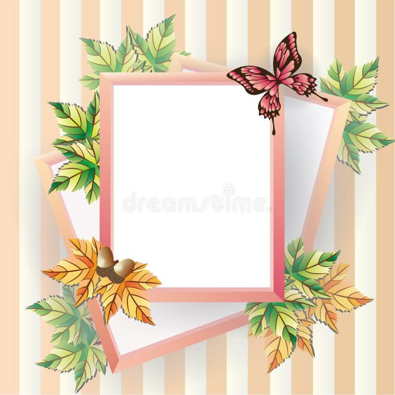 Картинная рамка клена. бесплатная иллюстрация