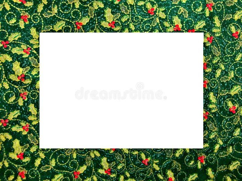 Картинная рамка рождества тематическая, картина падуба иллюстрация вектора