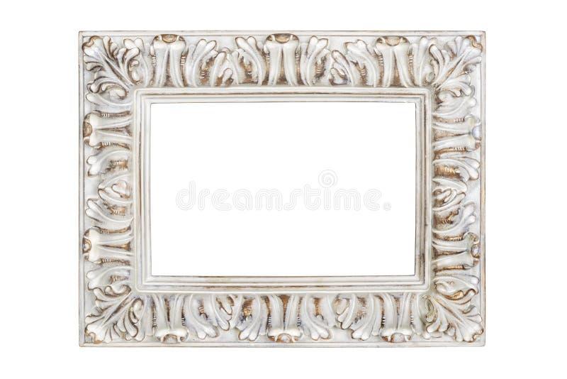 картинная рамка Серебр-золота стоковое фото rf