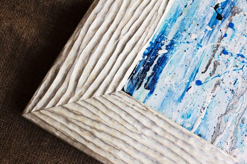 Картинная рамка с волнистой картиной стоковые фотографии rf