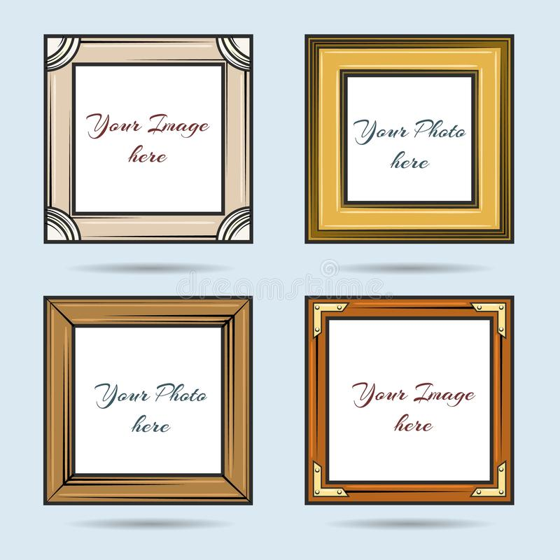 Картинные рамки мультфильма иллюстрация штока