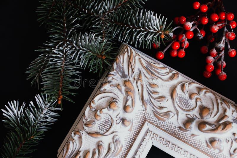 Картинные рамки с оформлением рождества стоковое фото