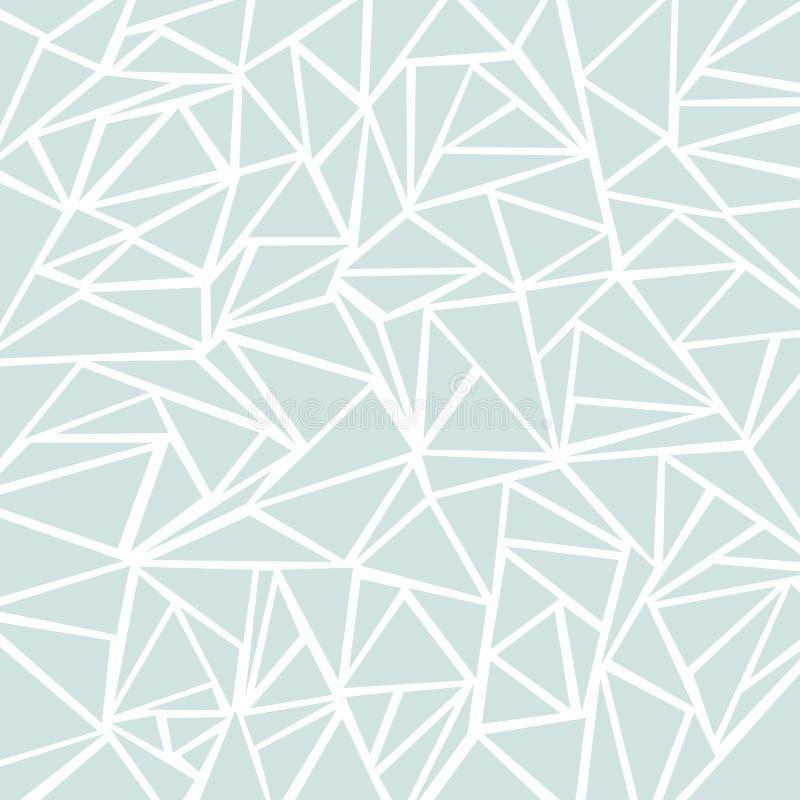Картины абстрактного света - голубые или серые геометрических и треугольника для иллюстрация штока