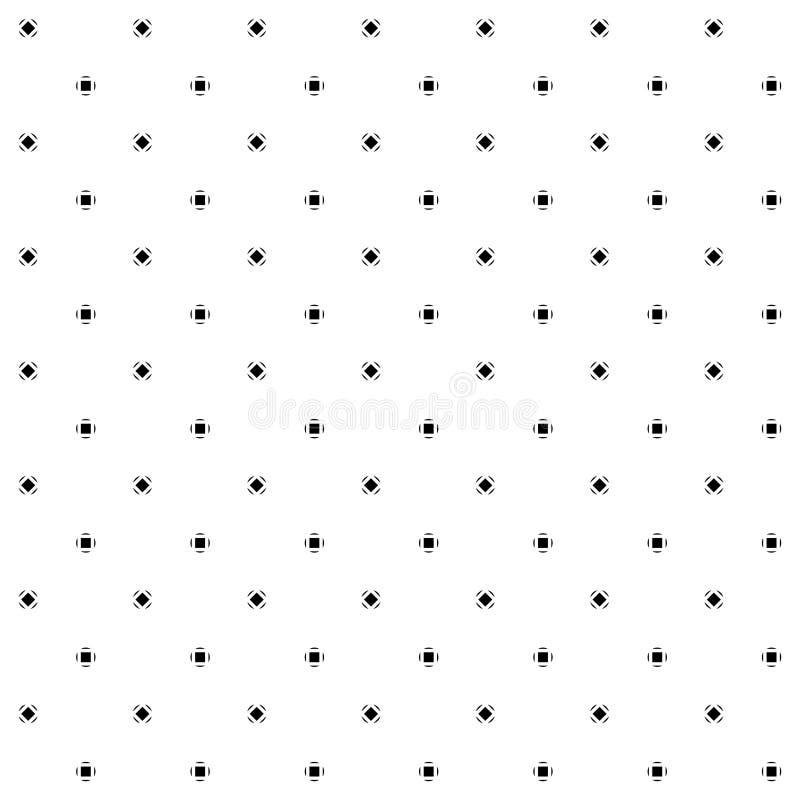 Картины безшовного вектора геометрические черно-белые иллюстрация штока