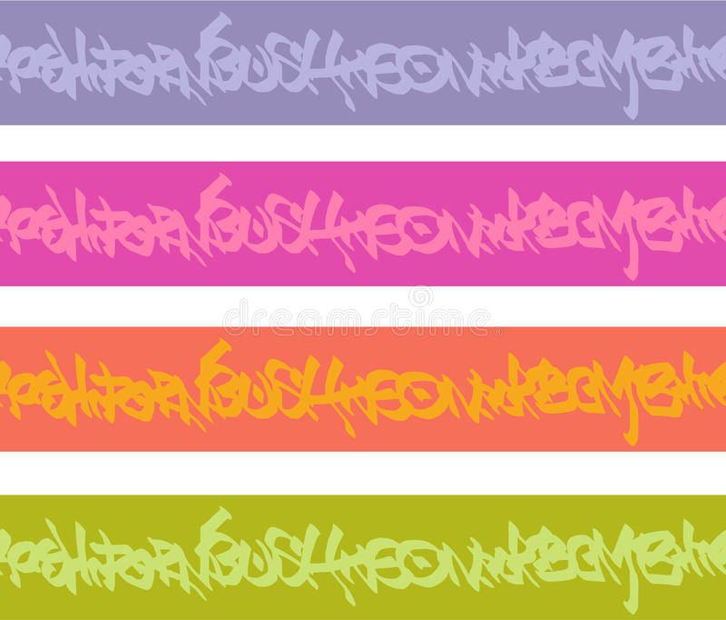 Картины бирки граффити безшовные в множественном цвете бесплатная иллюстрация