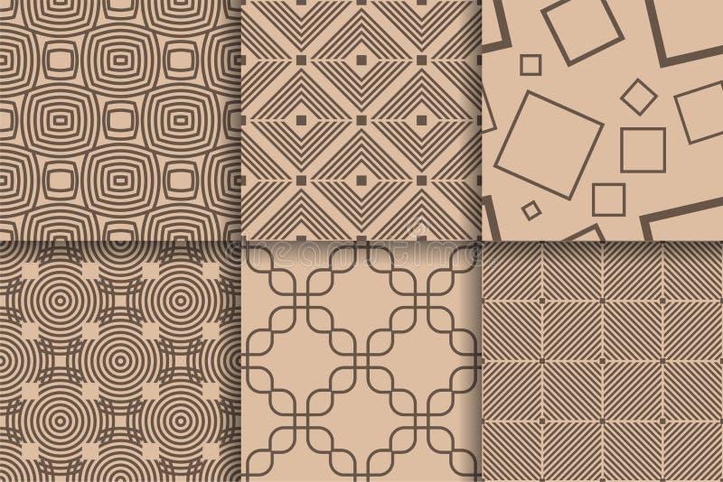 Картины Брайна безшовные Установленная геометрическая предпосылка бесплатная иллюстрация