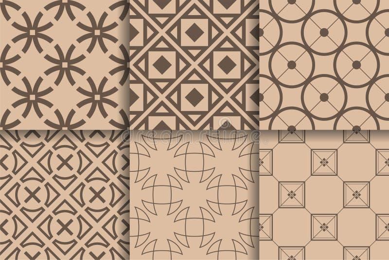 Картины Брайна безшовные Установленная геометрическая предпосылка иллюстрация вектора