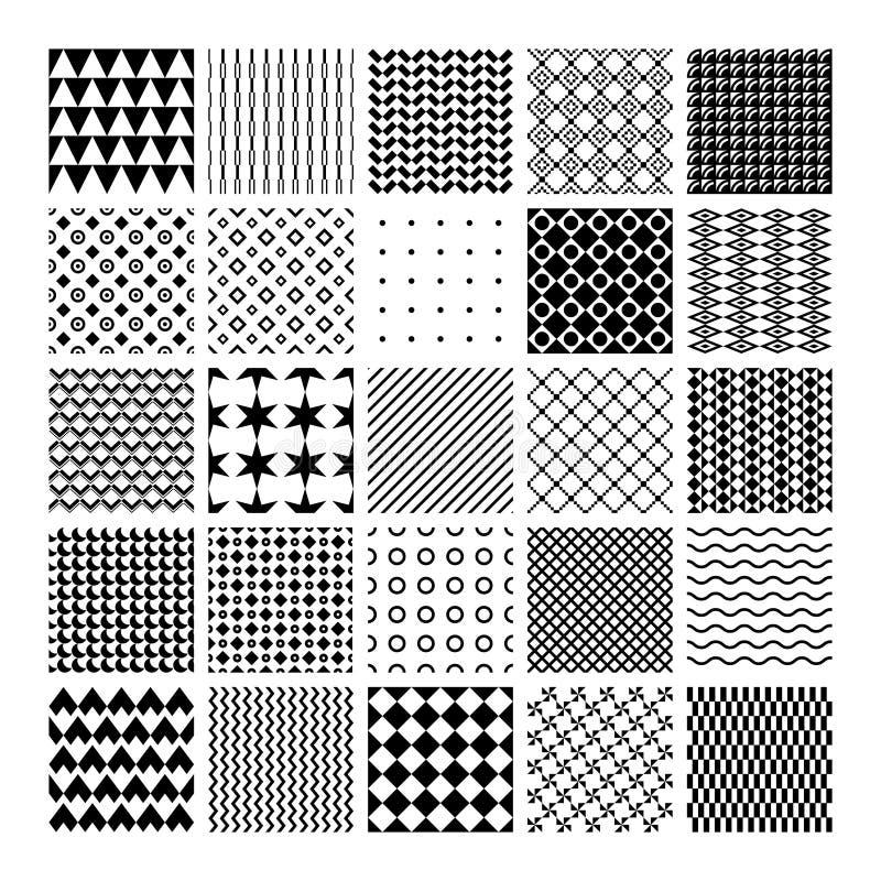 Картины вектора monochrome безшовные иллюстрация вектора