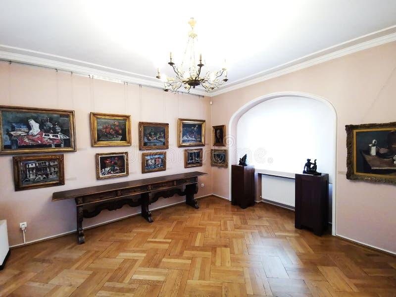 Картины верхнего значения внутри музея Zambaccian стоковое фото