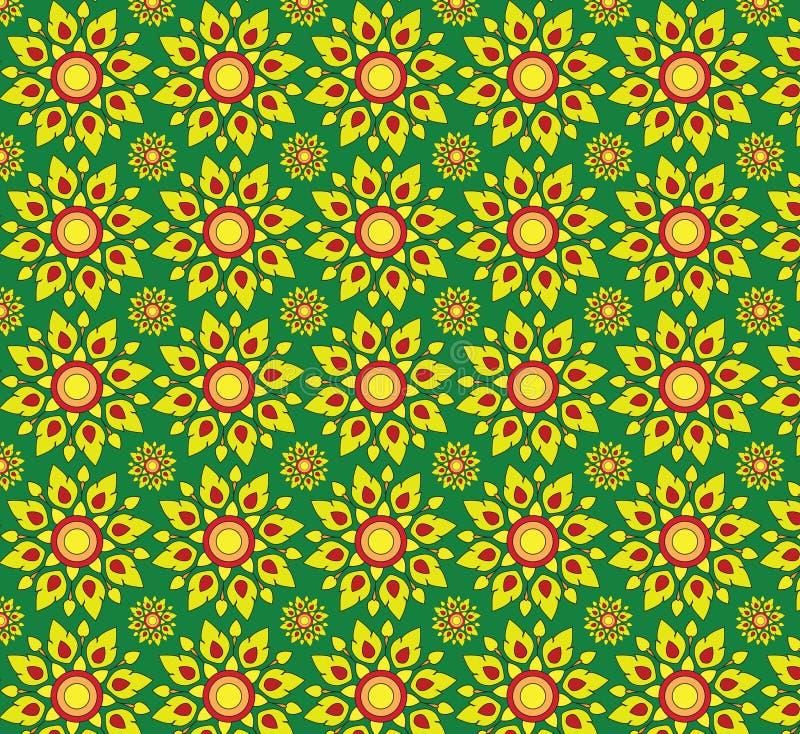 Картины желтой текстуры предпосылок флоры безшовные стоковая фотография