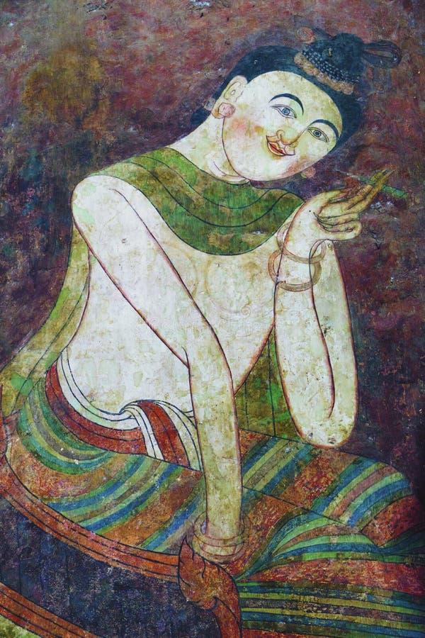 Картины из стен в провинции Нан в Таиланде стоковые изображения rf