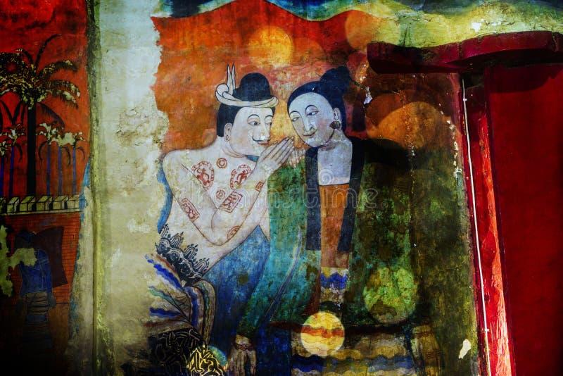 Картины из стен в провинции Нан в Таиланде стоковые фото
