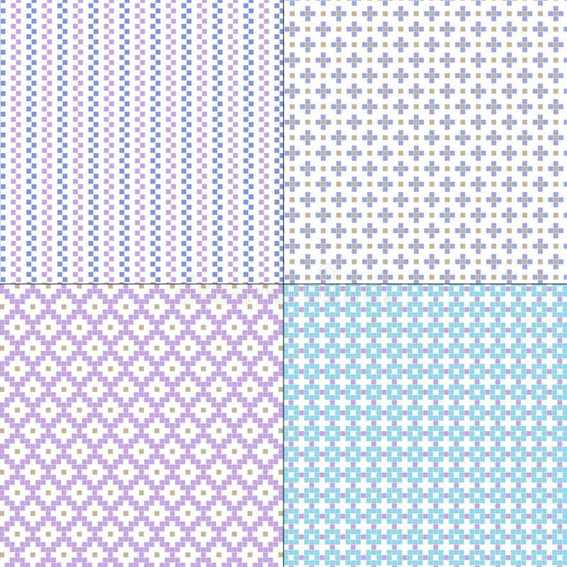 Картины малого голубого фиолетового вектора геометрические иллюстрация вектора