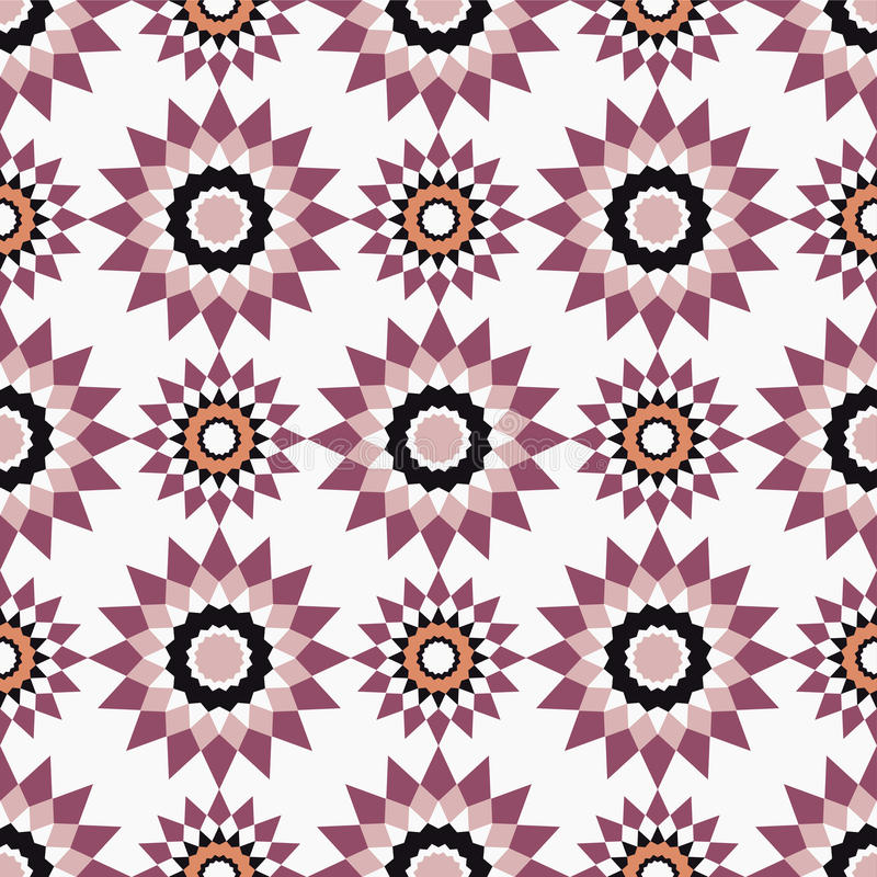 Картины морокканской мозаики безшовные Ретро мотив иллюстрация штока
