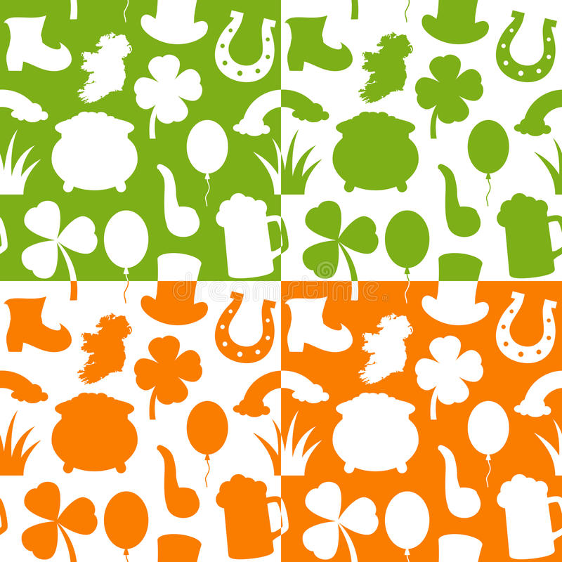 Картины дня St. Patrick s безшовные иллюстрация вектора