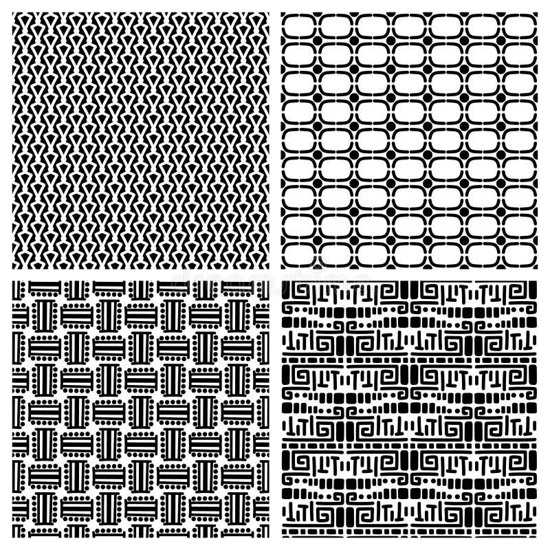 Картины племенной моды примитивные безшовные иллюстрация вектора