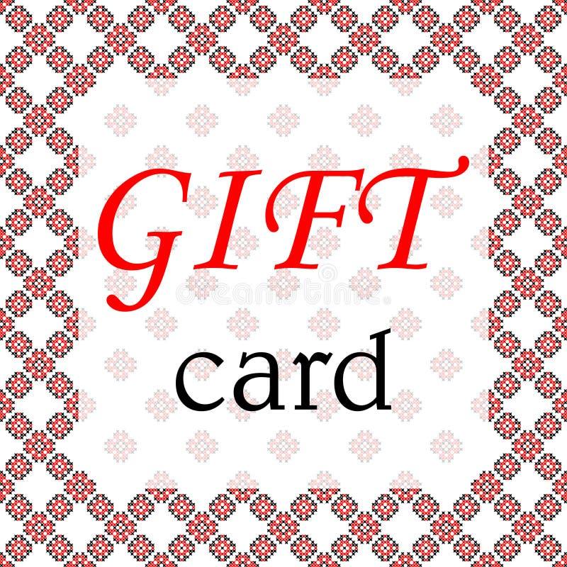 Картины рамки, карточки подарка, черных и красных на холсте стоковые изображения