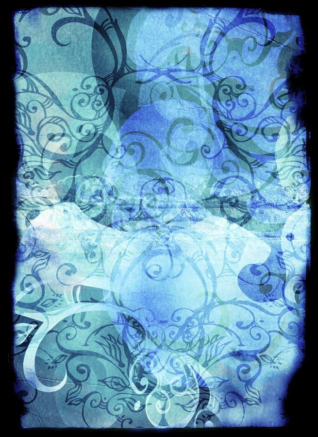 картины страницы grunge книги флористические иллюстрация штока