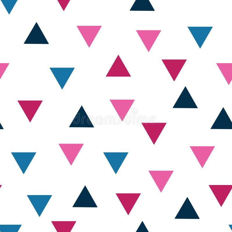 Картины треугольников предпосылки 8 треугольника вектора безшовные pttern безшовные геометрические - текстурируйте для обоев, пре иллюстрация вектора