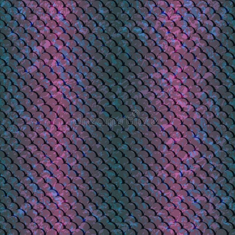 Картин-рыб-голуб-розовый иллюстрация вектора