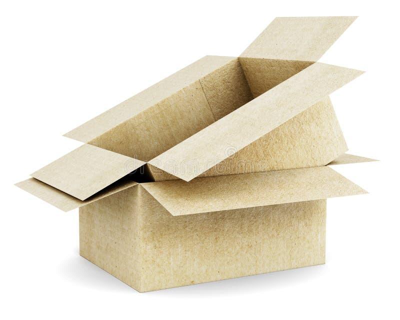 Картонная коробка в коробке изолированной на белой предпосылке иллюстрация вектора