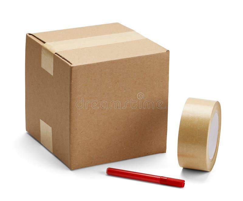 Картонная коробка и упаковывать стоковое фото rf