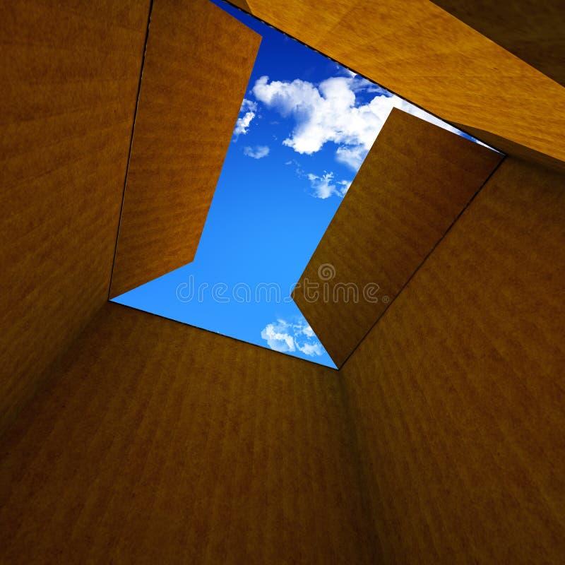 Картонная коробка иллюстрация штока