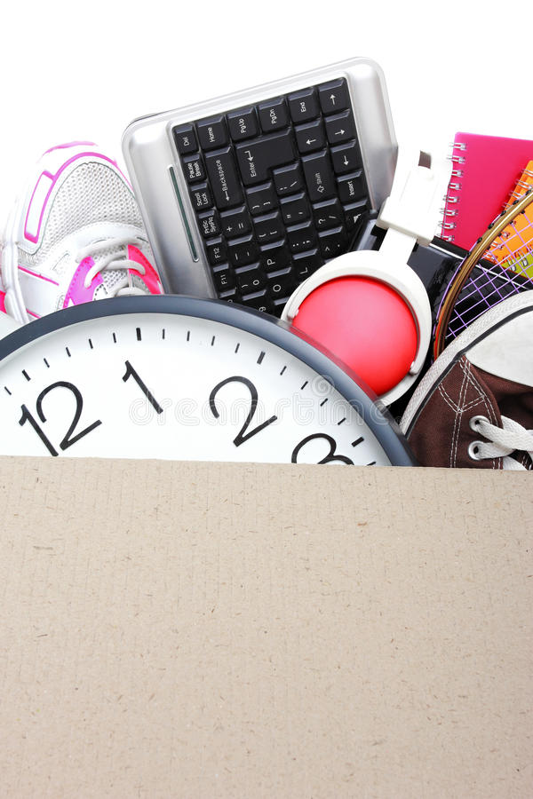 Картонная коробка. moving концепция дня стоковая фотография rf