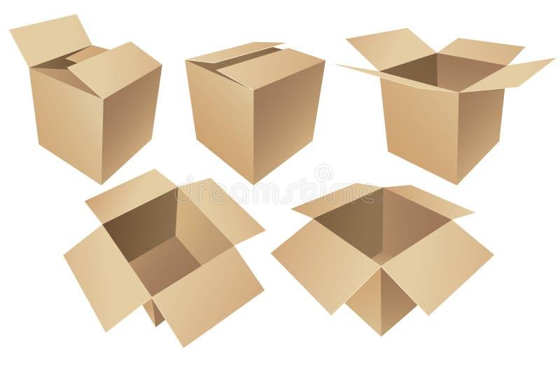 Картонные коробки иллюстрация штока
