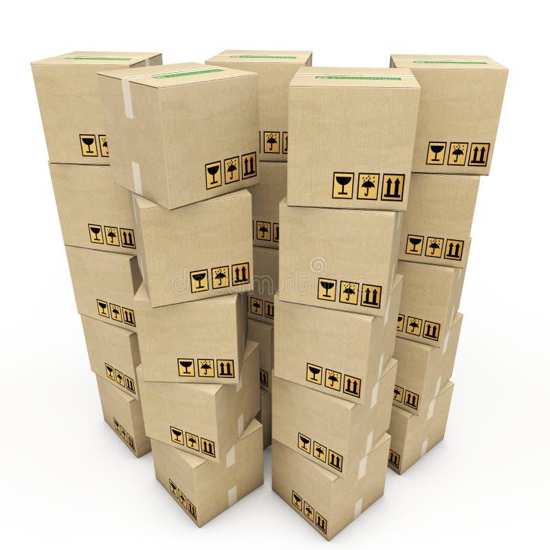 Картонные коробки бесплатная иллюстрация
