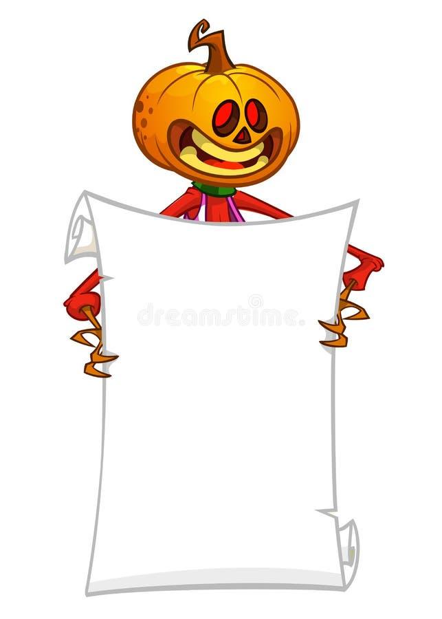 Картонный домкрат или фонарик, держащий пустой прокруточный лист для Ñ' иллюстрация штока