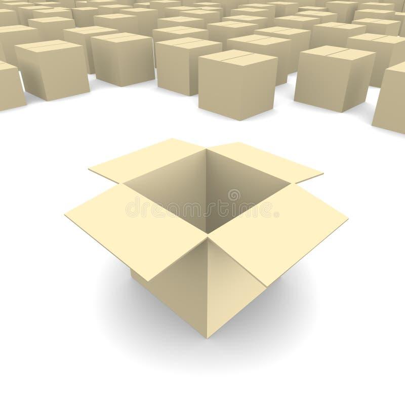 картон коробки пустой иллюстрация штока
