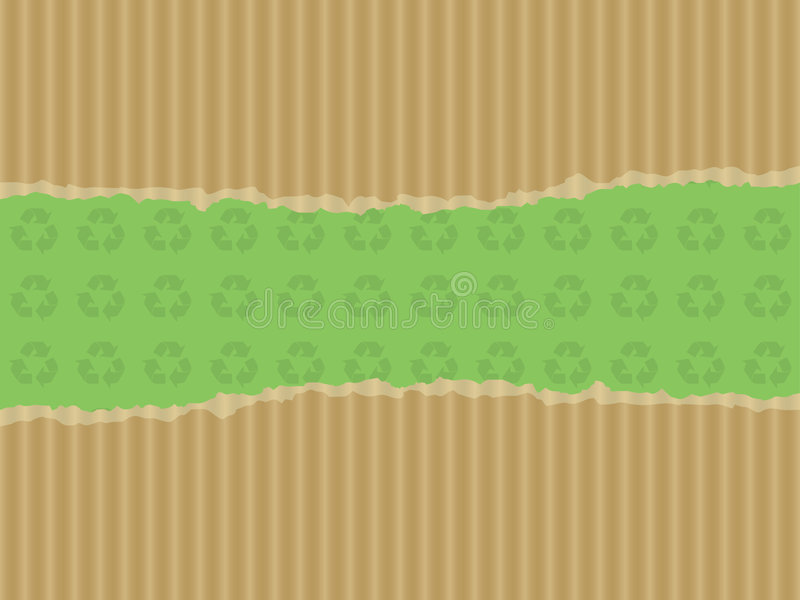 картон предпосылки рециркулирует сорванный символ иллюстрация вектора