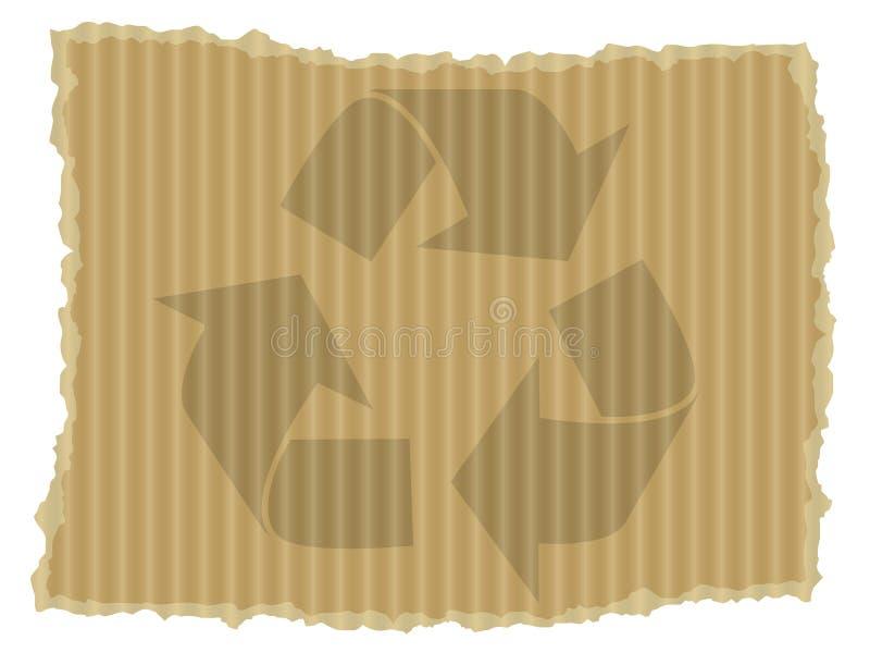 картон рециркулирует символ бесплатная иллюстрация