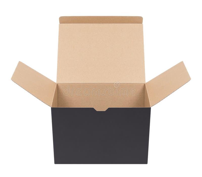 картон черного ящика стоковые фото