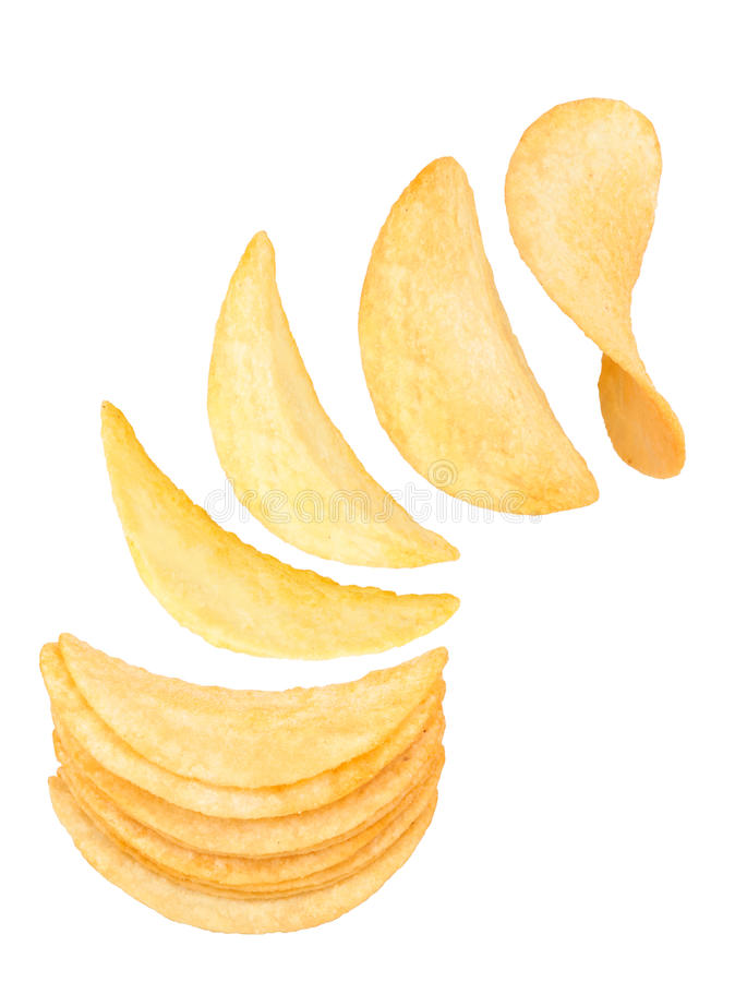 Картофельные стружки стоковое изображение rf