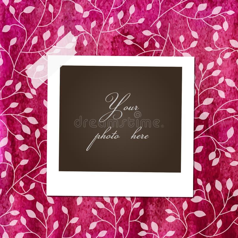Карточка акварели флористическая с рамкой фото иллюстрация штока