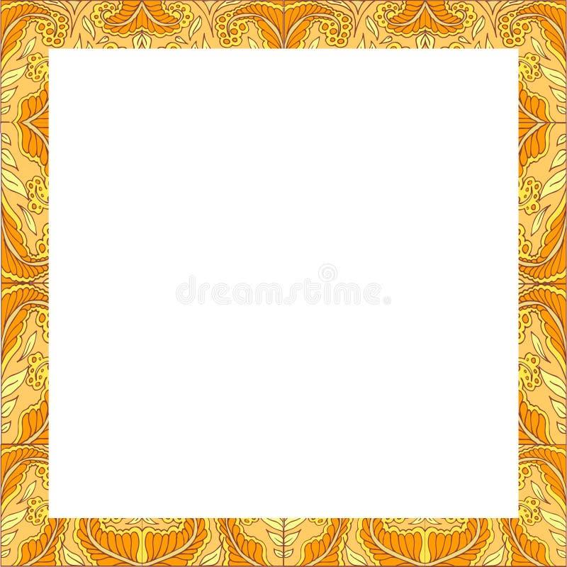 Карточка анти--стресса расцветки флористическая абстрактная пустая стоковые изображения rf