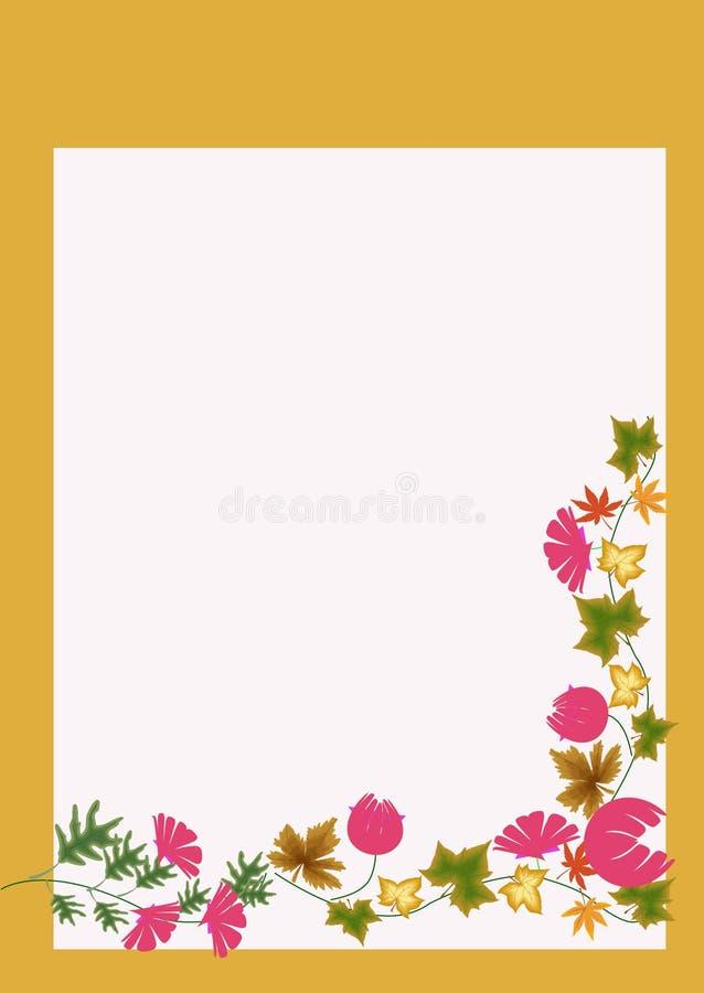 Карточка апельсина искусства предпосылки цветка стоковое изображение rf