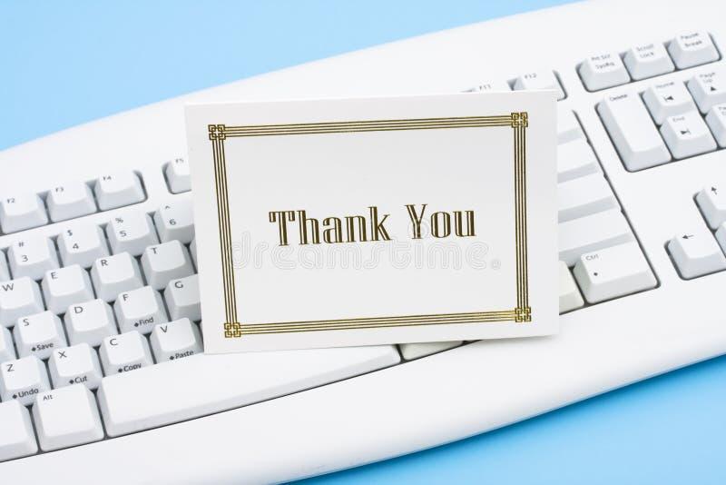 карточка благодарит вас стоковые фотографии rf