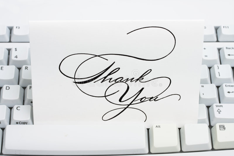 карточка благодарит вас стоковое изображение rf