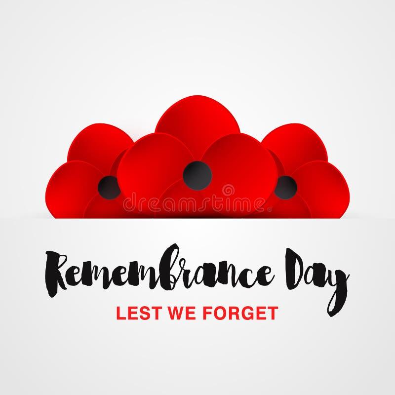 Карточка вектора день памяти погибших в первую и вторую мировые войны забудьте чтобы иллюстрация вектора