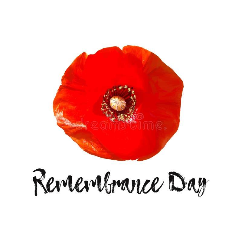 Карточка вектора день памяти погибших в первую и вторую мировые войны, день Anzac знамени иллюстрация вектора