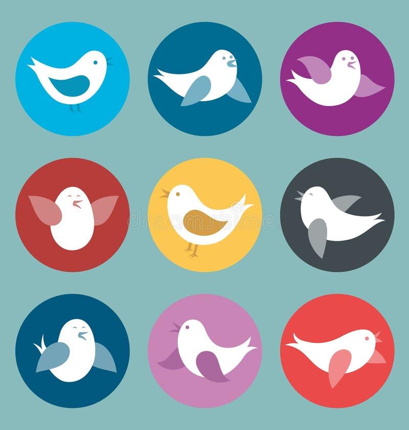 Карточка вектора с птицами иллюстрация штока