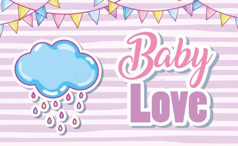 Карточка влюбленности младенца иллюстрация штока