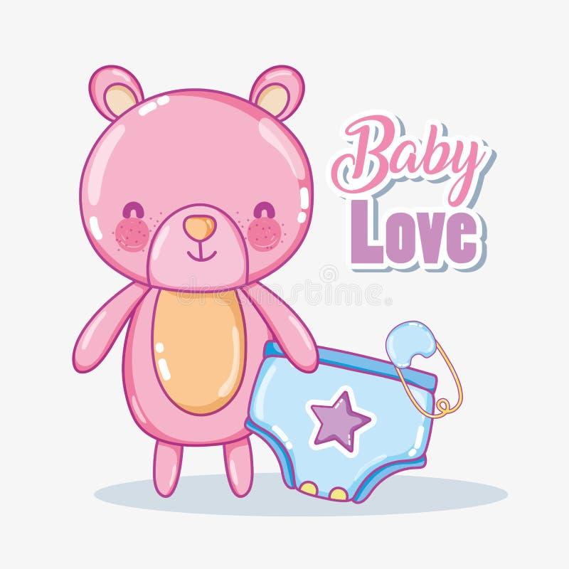 Карточка влюбленности младенца иллюстрация вектора