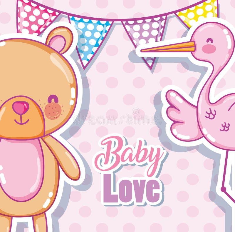 Карточка влюбленности младенца бесплатная иллюстрация