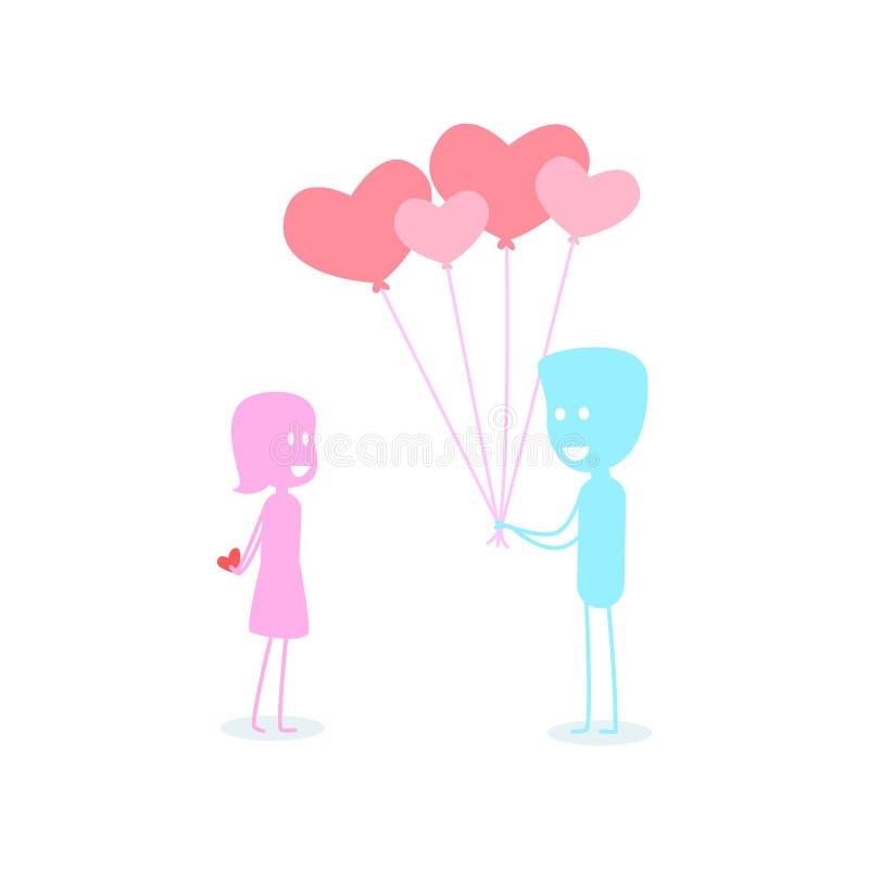 Карточка влюбленности на день ` s валентинки бесплатная иллюстрация