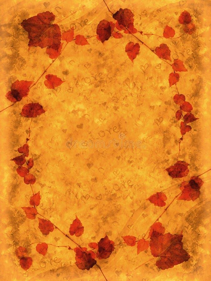 Карточка влюбленности осени иллюстрация вектора