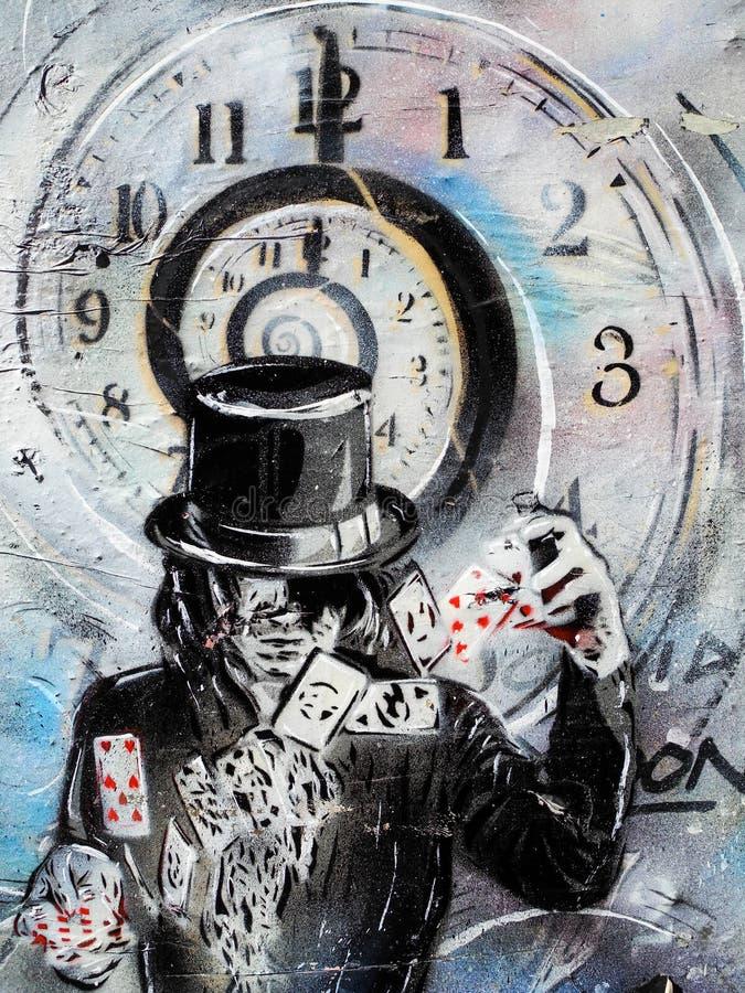 Карточка волшебника шаркая граффити стоковая фотография